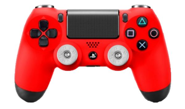 SONY PS4 PLAYSTATION RED DUAL SHOCK CONTROLLER WITH NICKEL ...